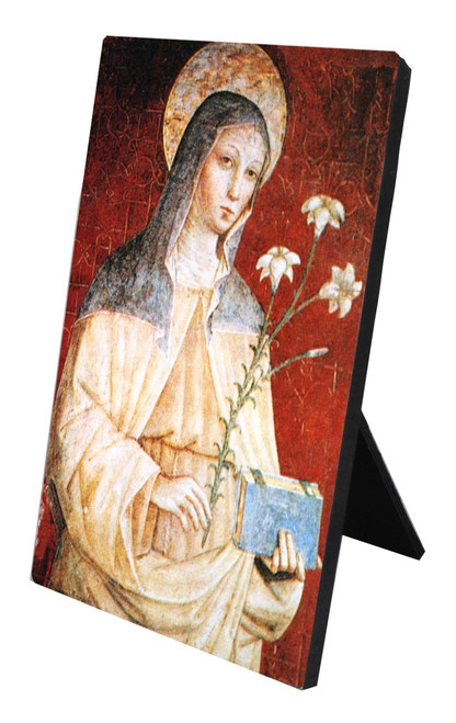St. Clare of Assisi Vertical Desk Plaque