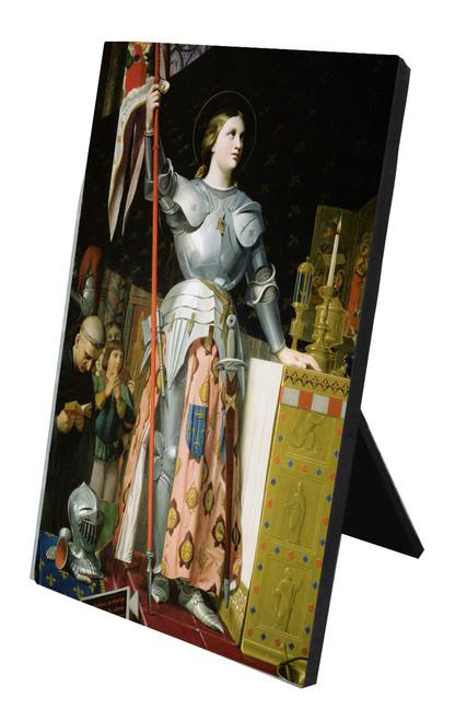 St. Joan of Arc Vertical Desk Plaque