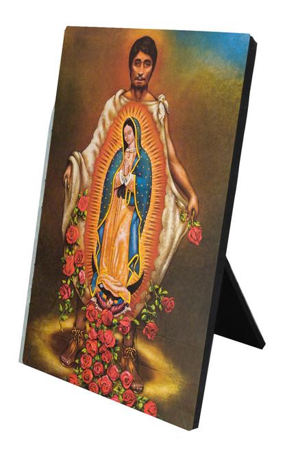 St. Juan Diego Vertical Desk Plaque