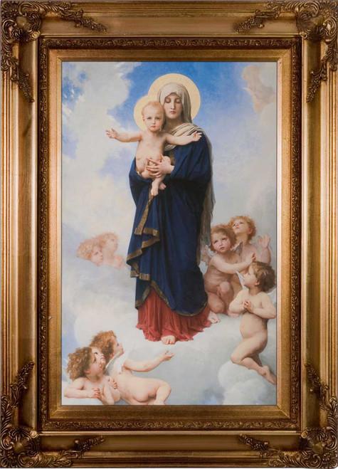 Notre Dame des Anges by William Bouguereau: Ornate Gold Framed Canvas