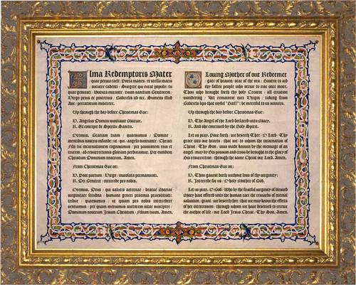 Latin-English Alma Redemptoris Mater Gold Framed Art