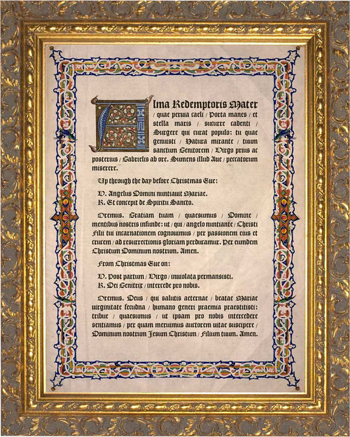 Latin Alma Redemptoris Mater Gold Framed Art