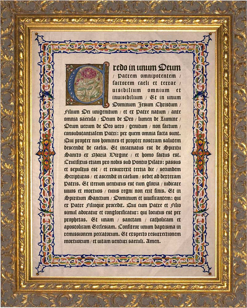 Latin Nicene Creed Gold Framed Art