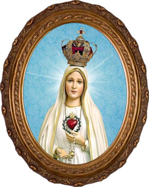Fatima 100 Year Anniversary - Oval Framed Art