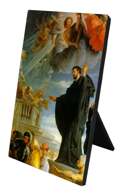 St. Francis Xavier Detail Vertical Desk Plaque