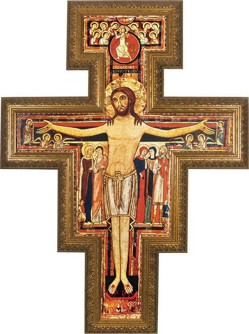 Church-Sized San Damiano Framed Canvas Cross
