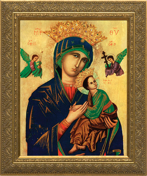 Our Lady of Perpetual Help - Gold Framed Art