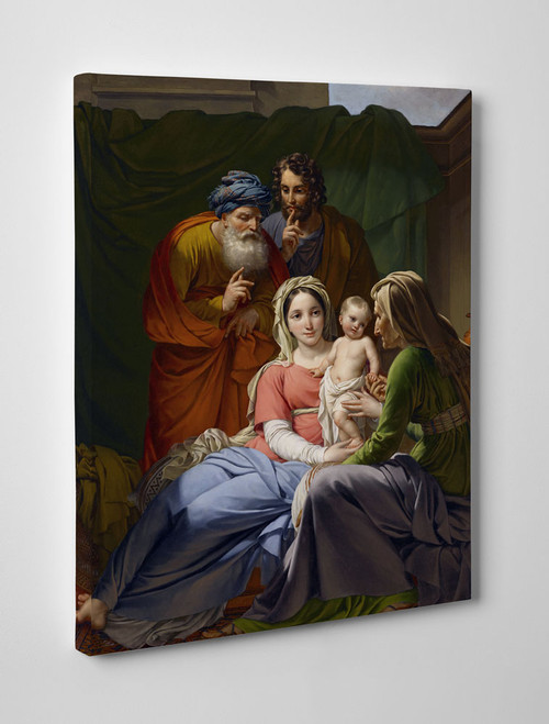 Holy Family with Grandparents Gallery Wrapped Canvas