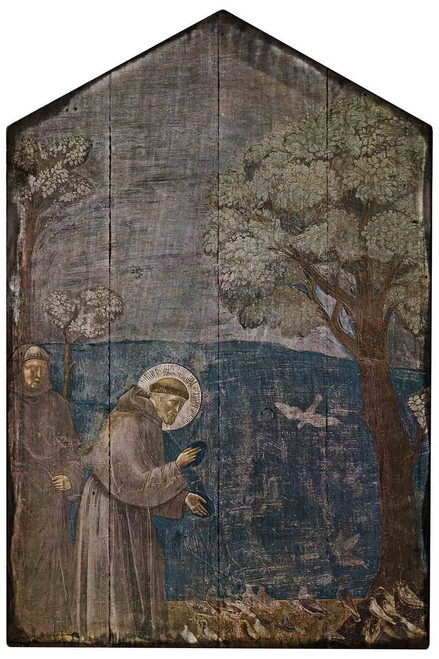 St. Francis and Birds Rustic Wood Plaque