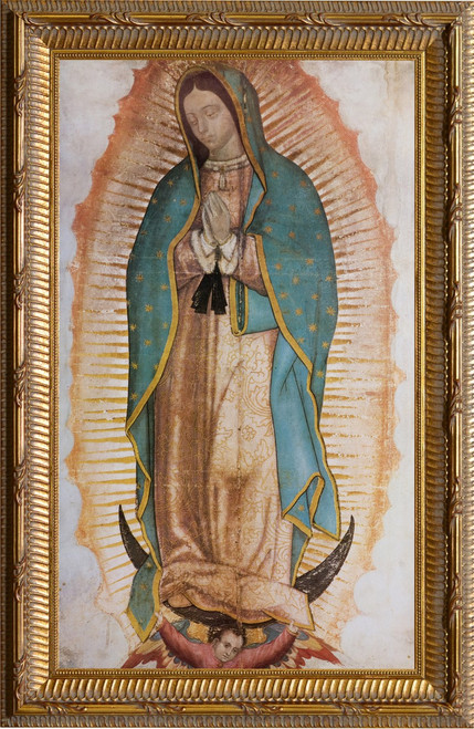 Our Lady of Guadalupe Basilica Gold Framed Art