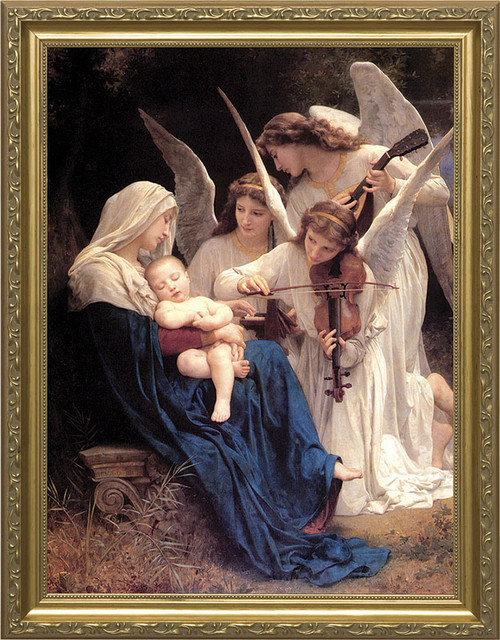 Song of the Angels Church-Sized Framed Canvas Art