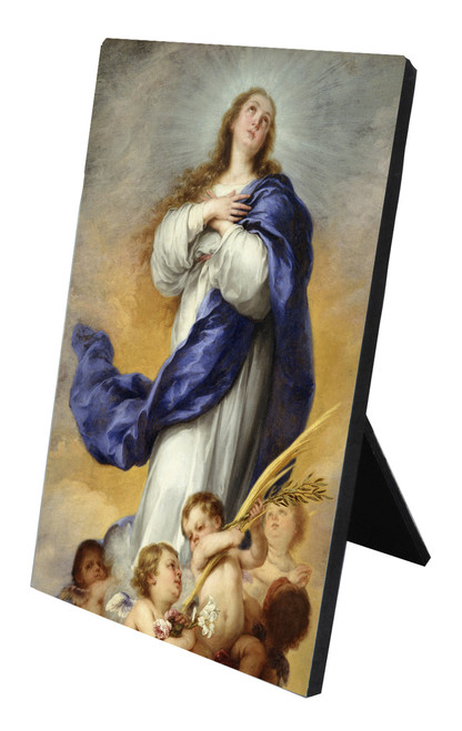 Immaculate Conception Vertical Desk Plaque