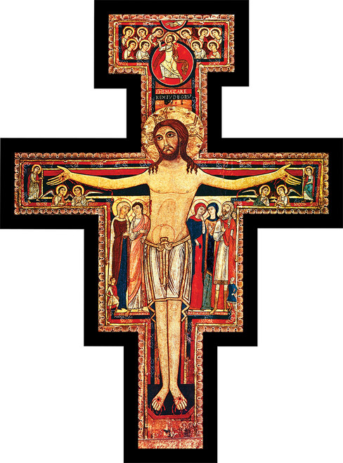 San Damiano Oversized Wall Plaque Cross