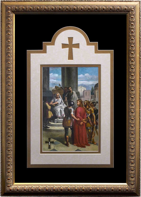 Bertucci Deluxe Stations of the Cross matted and framed  (Set of 14)