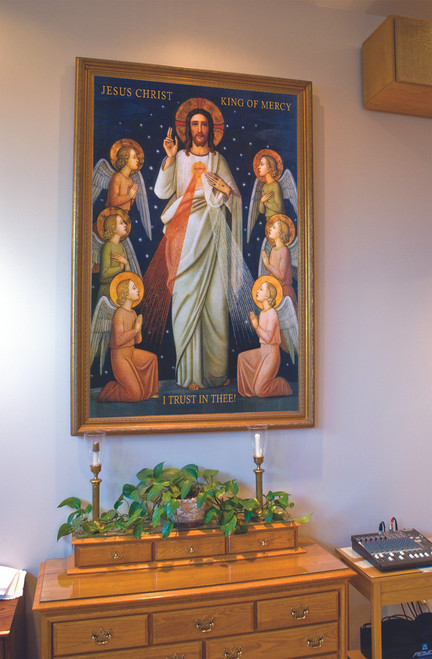 King of Divine Mercy Church-Sized Canvas Framed Art