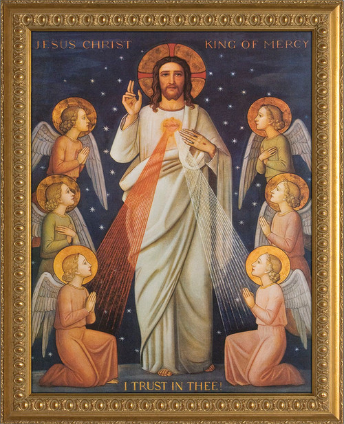 King of Divine Mercy Canvas Framed Art