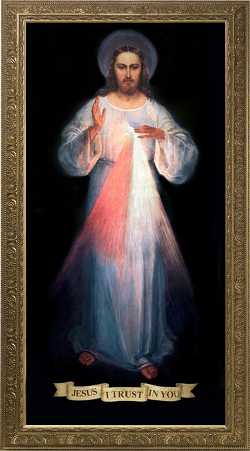Divine Mercy Vilnius Original Church-Sized Framed Canvas Art