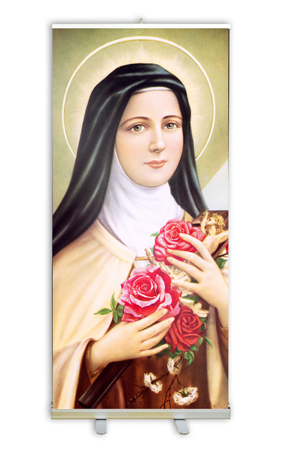 St. Therese of Lixieux Banner Stand