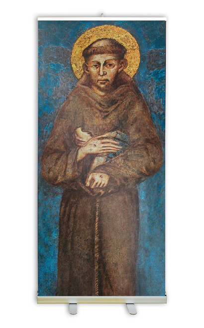 St. Francis by Cimabue Banner Stand