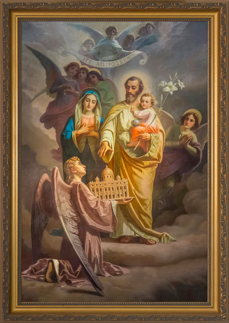 Joseph, Patron of the Church - Standard Gold Framed Art