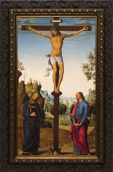 Crucifixion by Perugino Framed Art