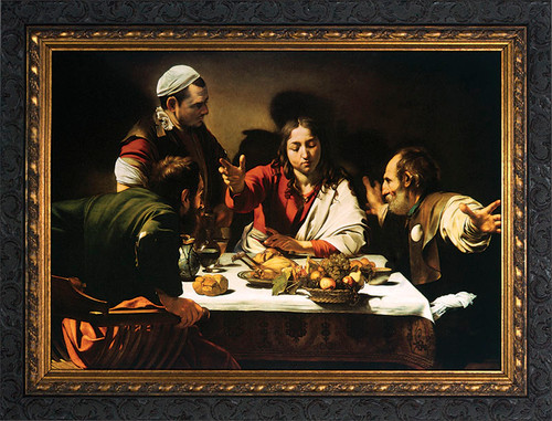 Supper at Emmaus Framed Art