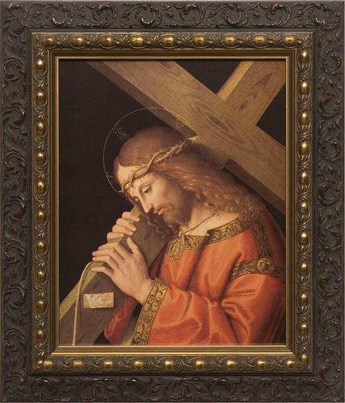 Christ Bearing the Cross - Dark Ornate Framed Art