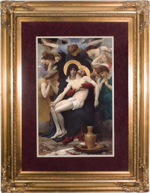 La Pieta Matted - Gold Museum Framed Art