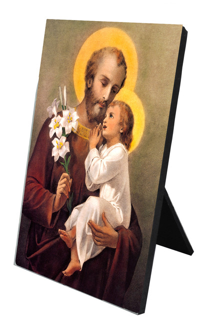 St. Joseph (Younger) Vertical Desk Plaque