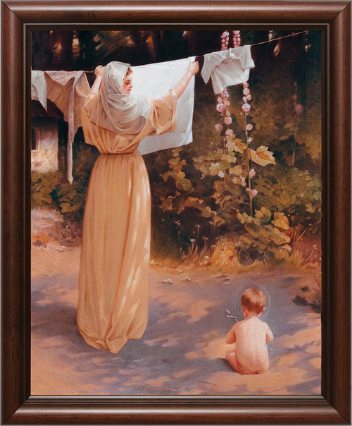 Polish Madonna - Cherry Framed Art