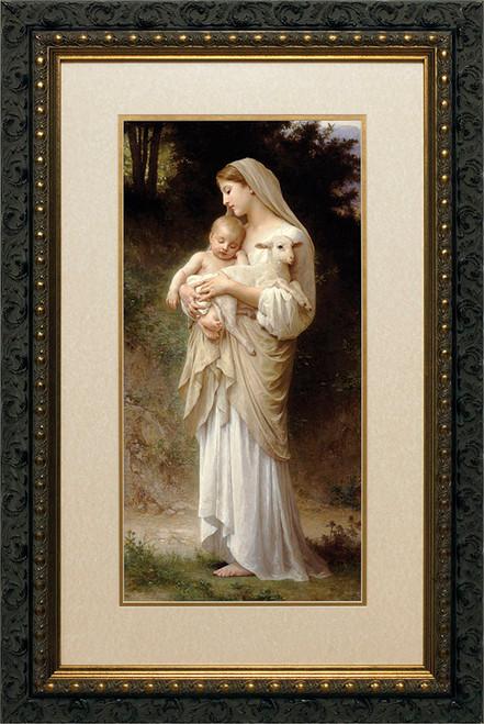 L'Innocence Matted - Ornate Dark Framed Art