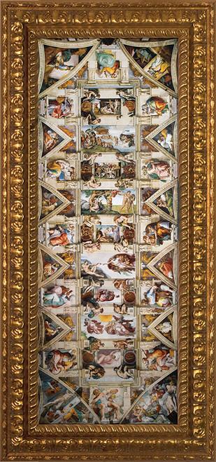 Ceiling of the Sistine Chapel - Ornate Gold Plexiglass Framed Art