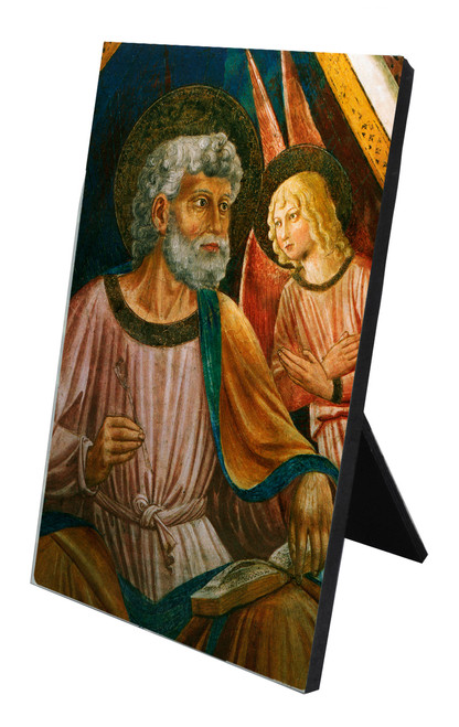 St. Matthew Vertical Desk Plaque