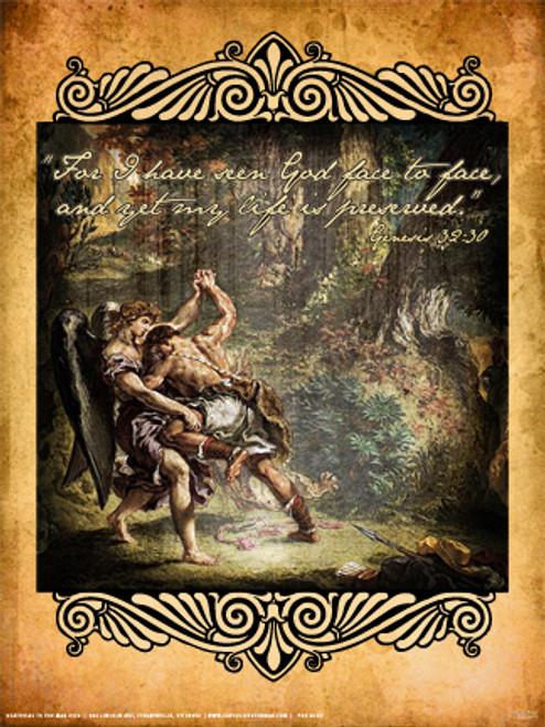 Jacob Wrestling Angel Poster