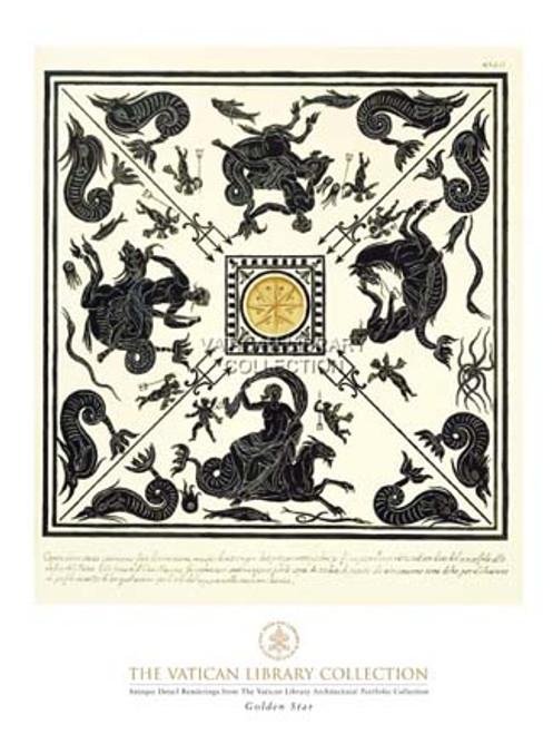 Golden Star Paper Print