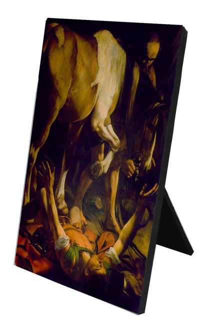 St. Paul by Caravaggio Vertical Desk Plaque