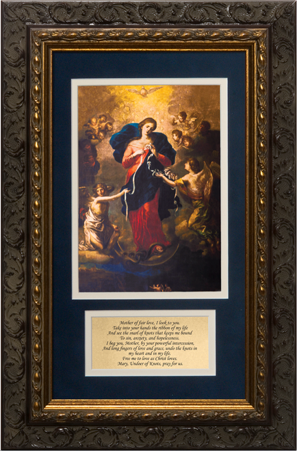 Mary Undoer of Knots with Prayer Framed