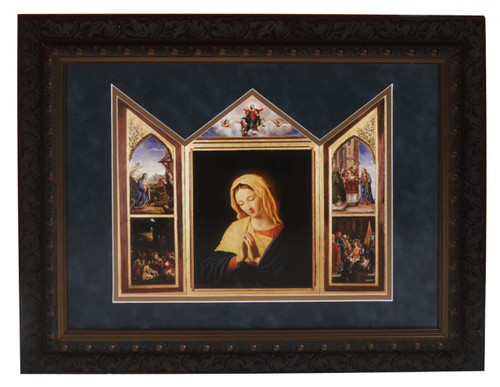 The Virgin, After Sassoferrato Matted Triptych Art