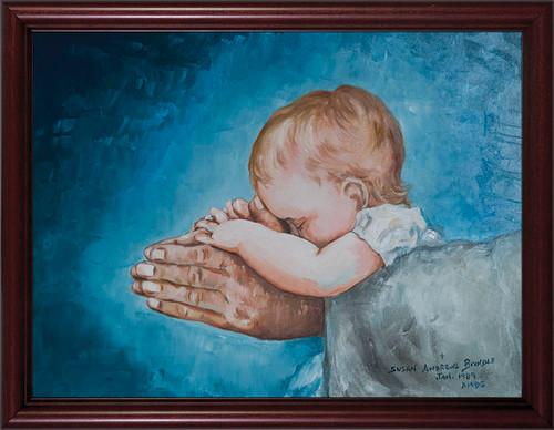 Safe in Arms by Susan Brindle Framed Art
