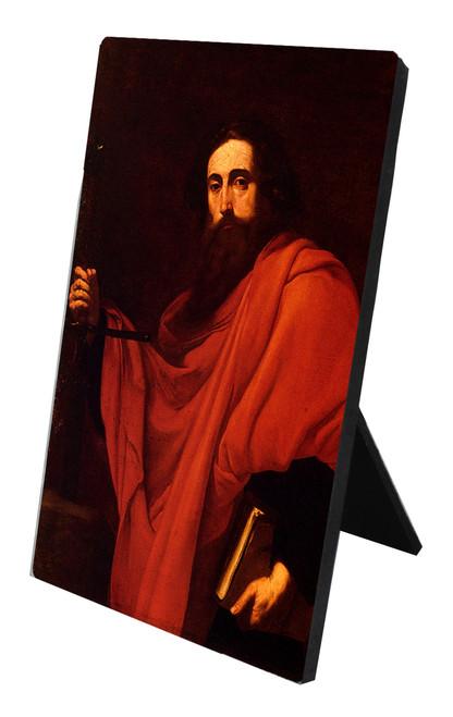 De Saint Paul by Ribera Vertical Desk Plaque