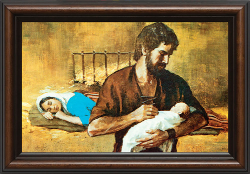 Holy Family - Walnut Framed Art