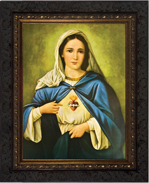 Immaculate Heart - Ornate Dark Framed Art