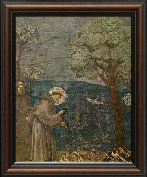 St. Francis with Birds Framed Art