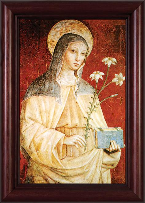 St. Clare (Red) Framed Art