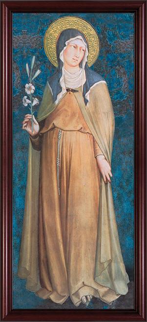 St. Clare Full Length - Cherry Framed Art