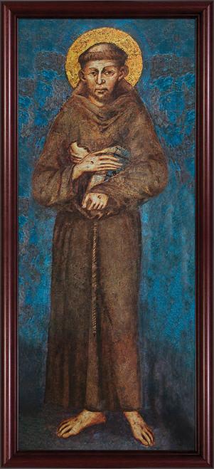 St. Francis Full Length - Cherry Framed Art