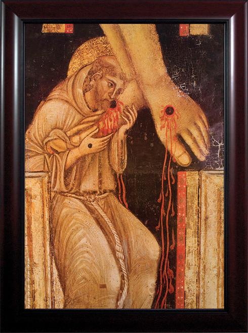 St. Francis Kissing the Feet of Christ Framed Art