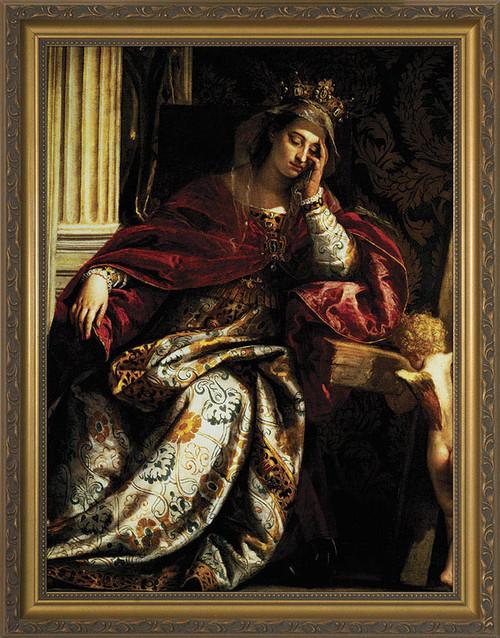 Vision of St. Helen Framed Art
