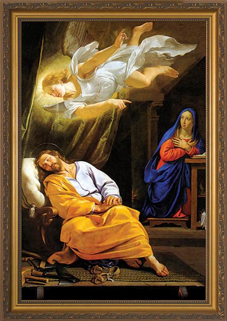 Vision of St. Joseph Framed Art