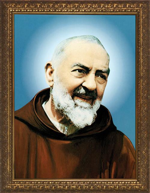 St. Padre Pio - Standard Gold Framed Art